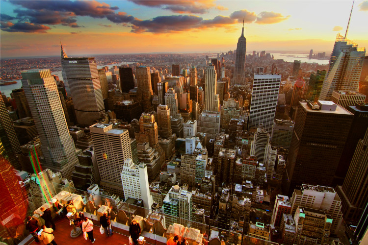 New York Sunset - From Rockefeller Center